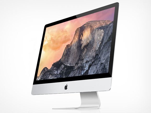 "Apple iMac 27"" Retina 5K Core i5-4690 Quad-Core 3.5GHz All-In-One Computer - 8GB 1TB+128GB Fusion Radeon OSX (Late 2014)"