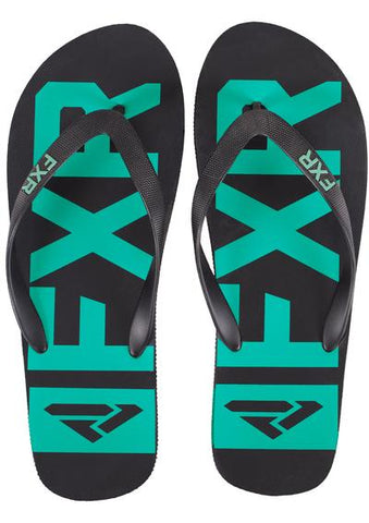 FXR Women's Evo Flip Flop - Black/Mint
