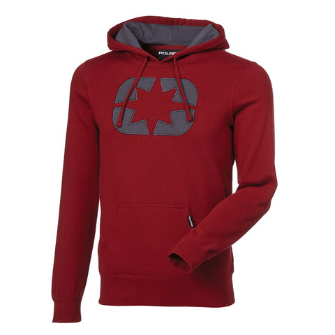 POLARIS Women Icon Hoodie- Maroon/Gray