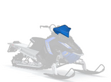 Polaris Deep Snow Mid Windshield-Blue