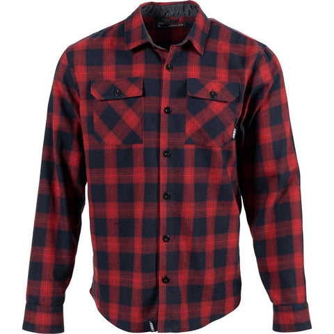 509 Men's Basecamp Flannel Shirt- Red & Navy