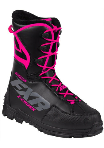 FXR Women's X-Cross Pro Speed Insulated Boot - Black/Fuchsia