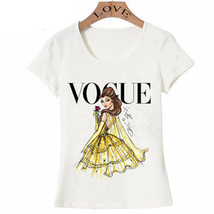 "Tee shirt femme type princesse imprimé ""VOGUE""."