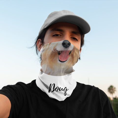 Trendy Personalized Face Cover with Your Dog Face On it