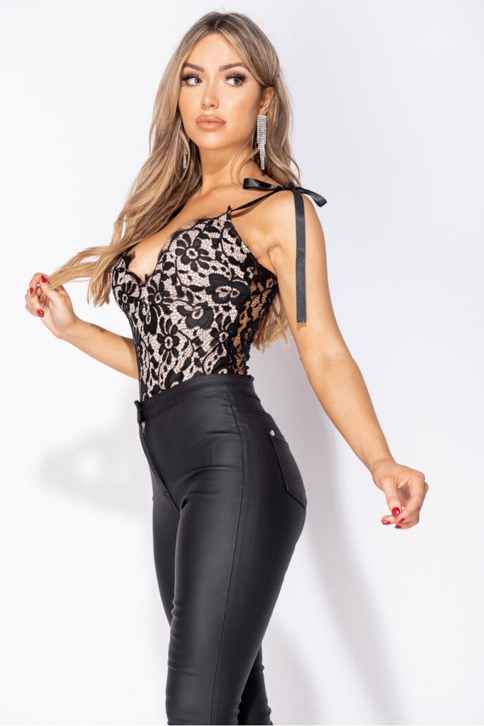 Can't Stop Staring Bodysuit - Black