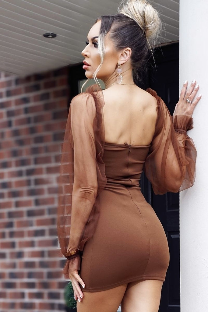 Drea Dress - Brown