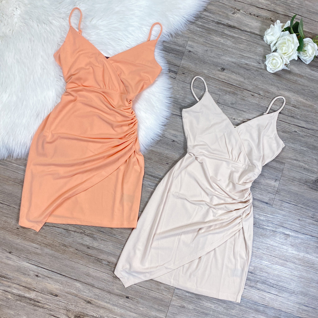 Make Up Your Mind Dress - Peach