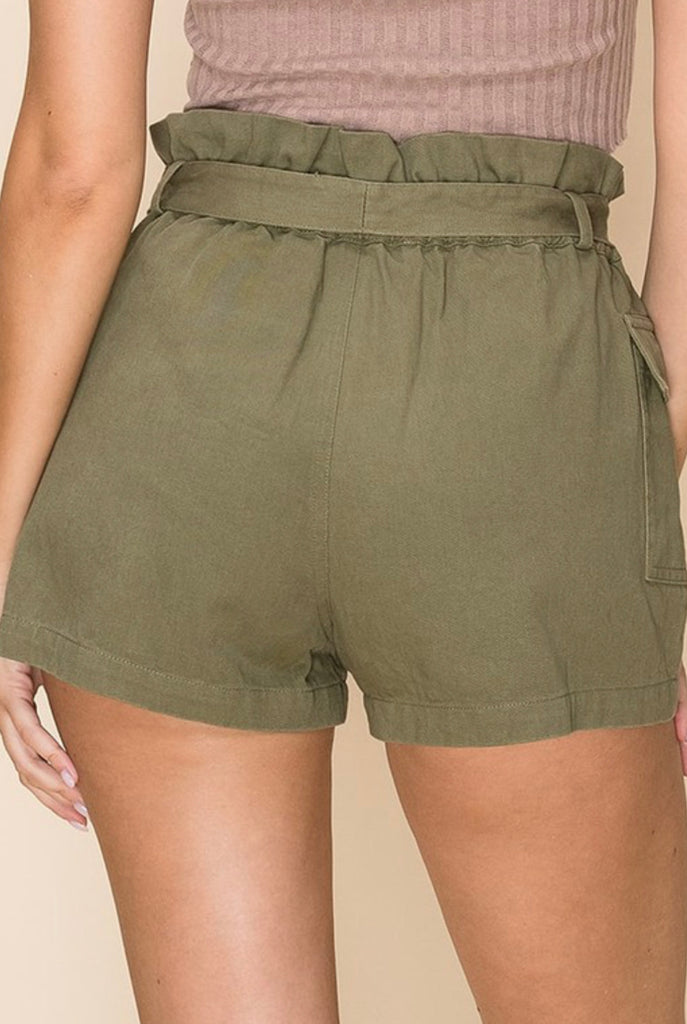 Over The Top Shorts - Olive