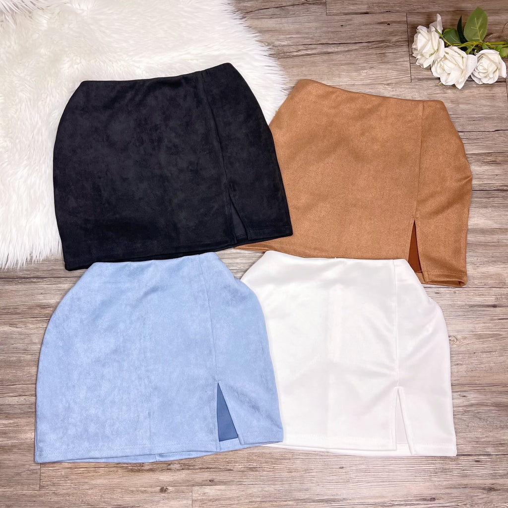 Giving You Options Skirt - Baby Blue