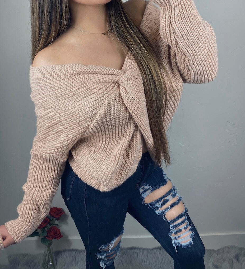 Cozy Nights Sweater - Nude