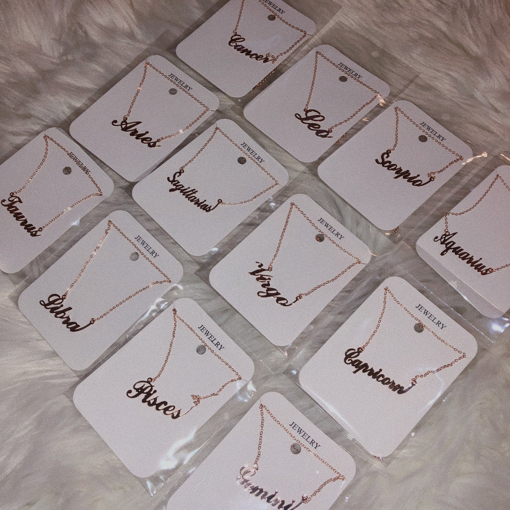 Rose Gold Zodiac Sign Necklace