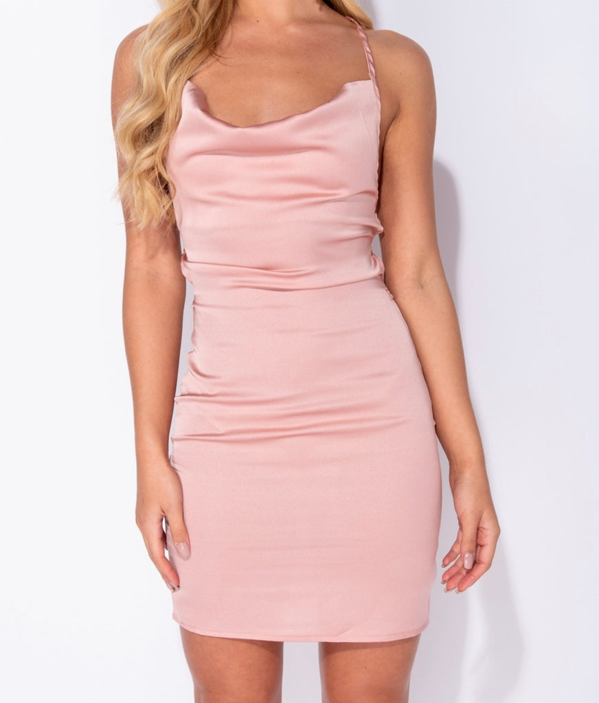 Ariana Dress - Dusty Pink
