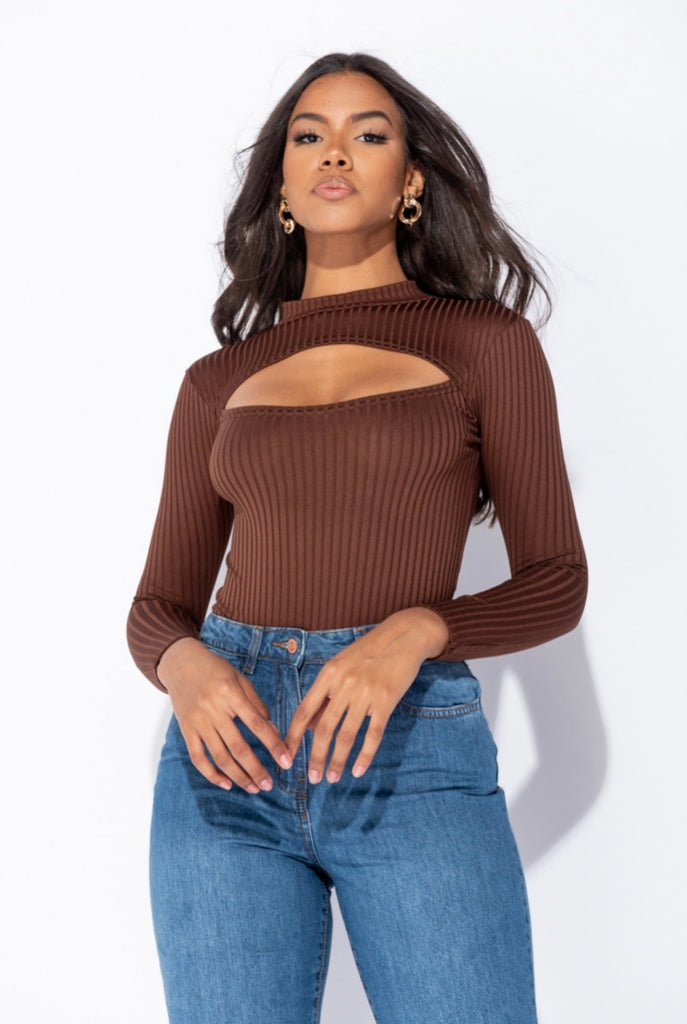 Hailee Bodysuit - Chocolate