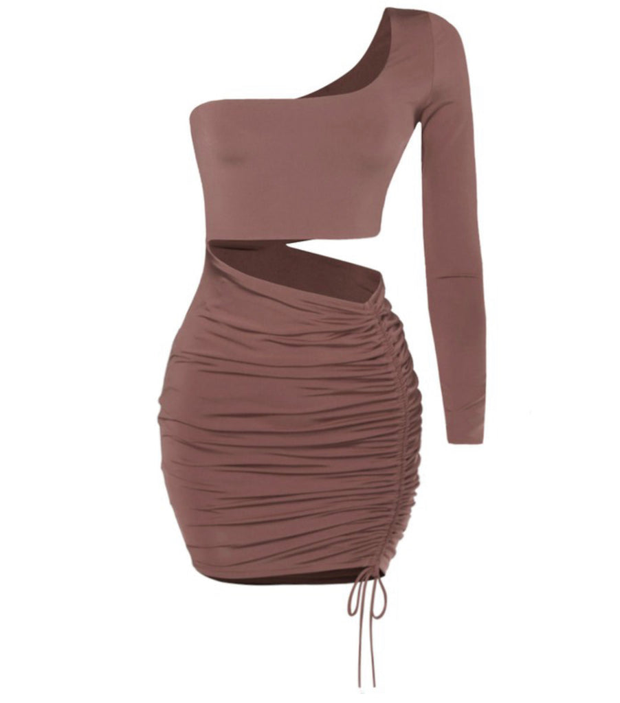 Girls Night Out Dress Dress - Mocha