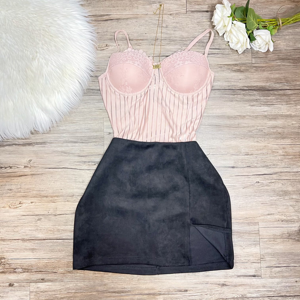 Christina Bodysuit - Blush