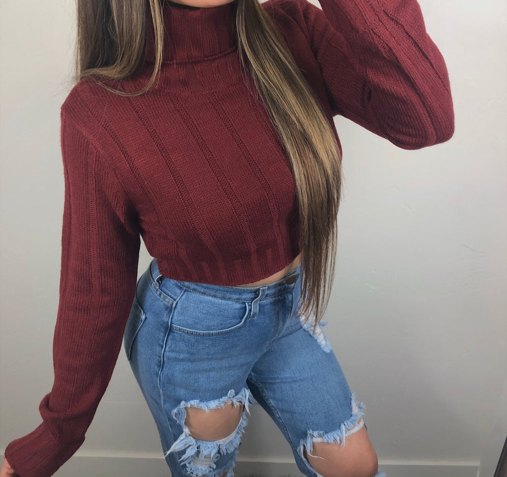 Cuddle Me Sweater - Burgundy