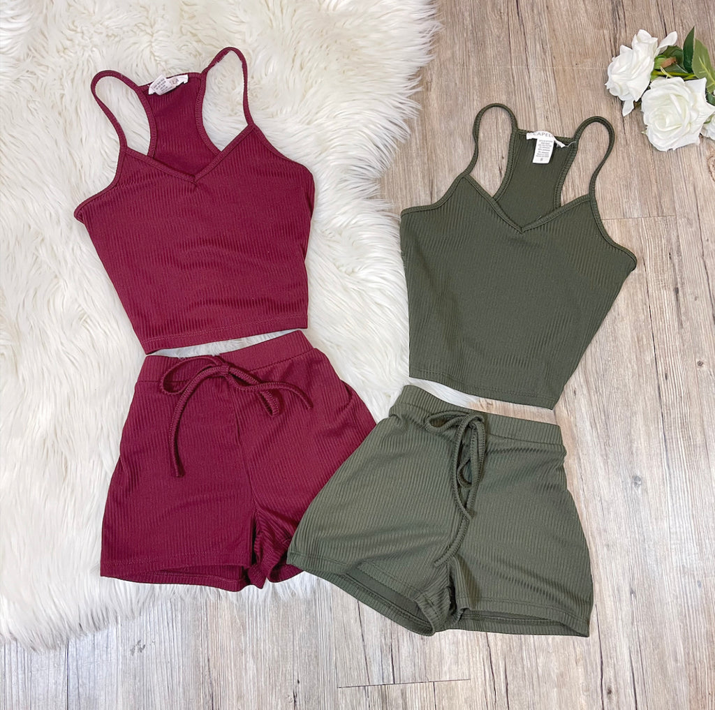Angel Set - Burgundy