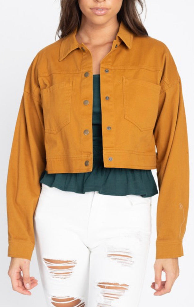 Fave Time Jacket - Cognac