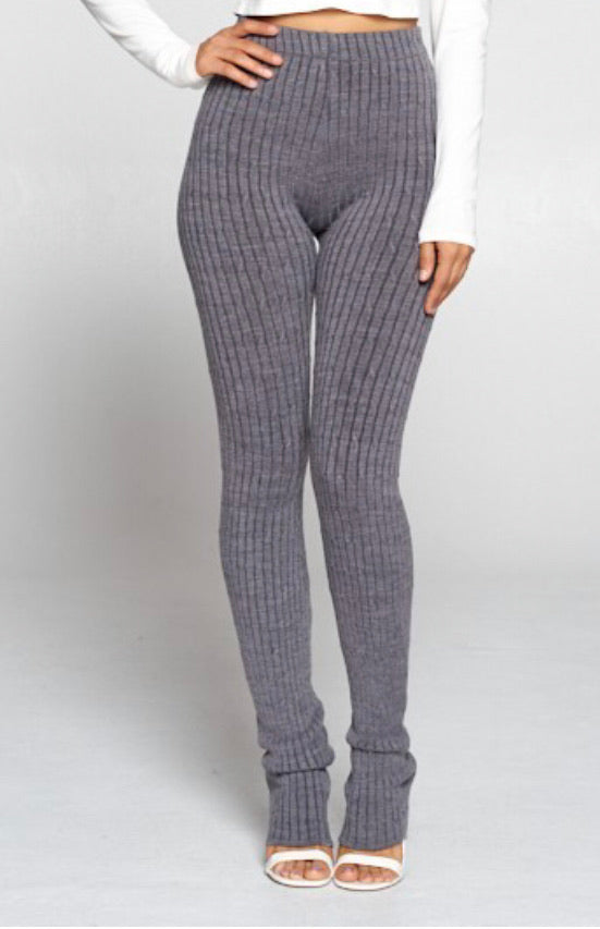 Cozy Me Pants - Grey