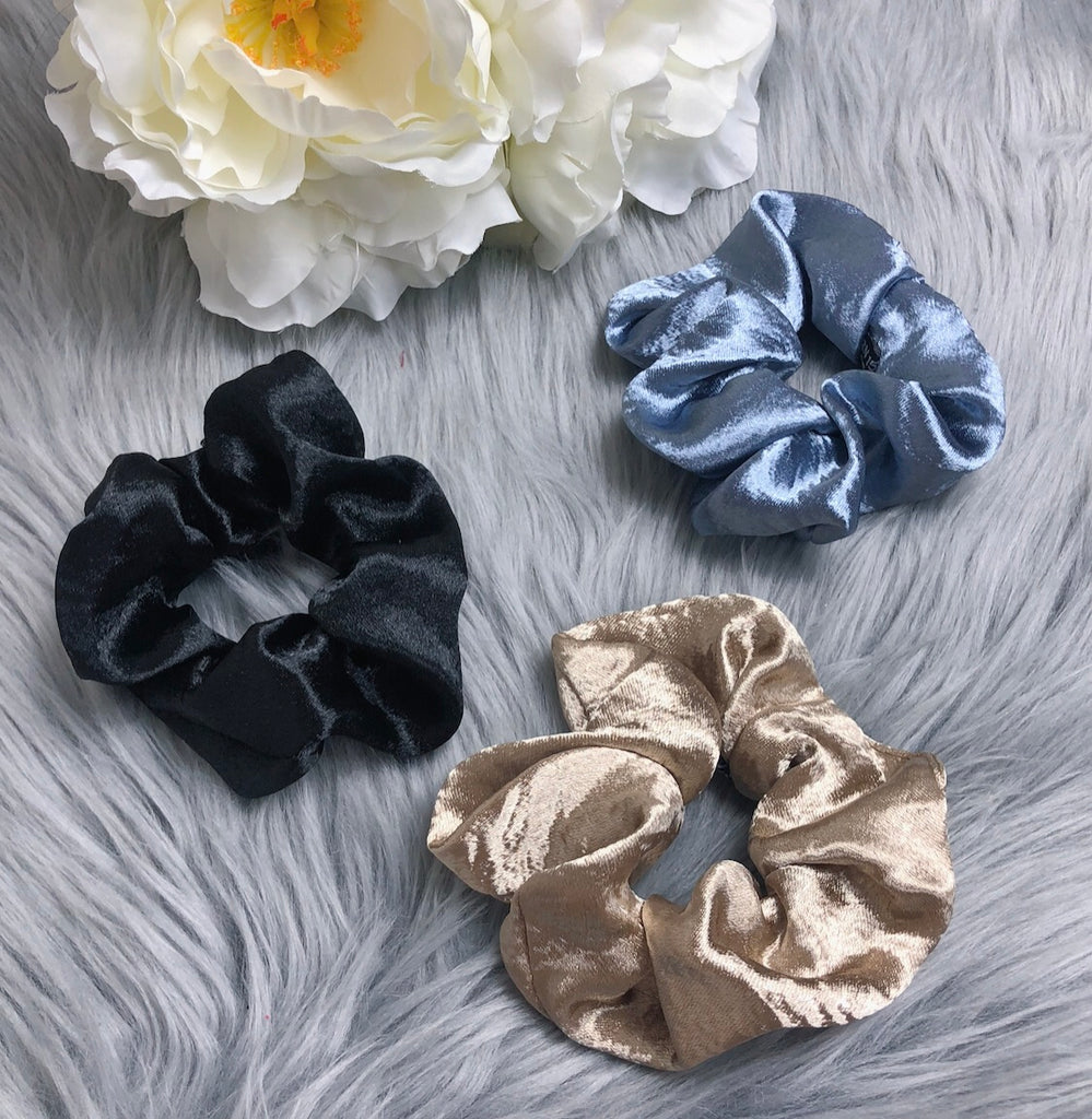 Cosmic Satin Hair Scrunchie Set