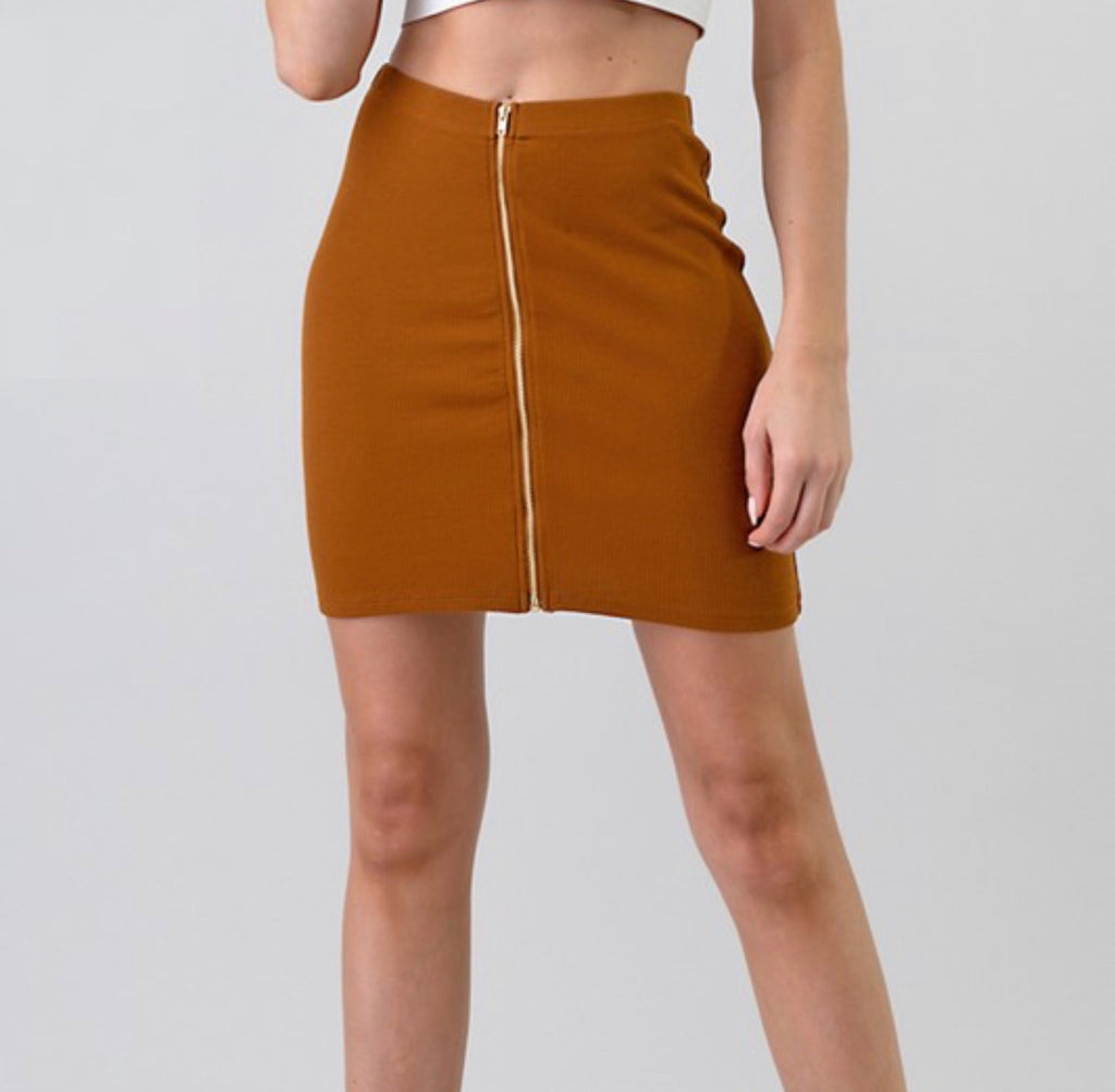 My Fave Skirt - Golden Brown