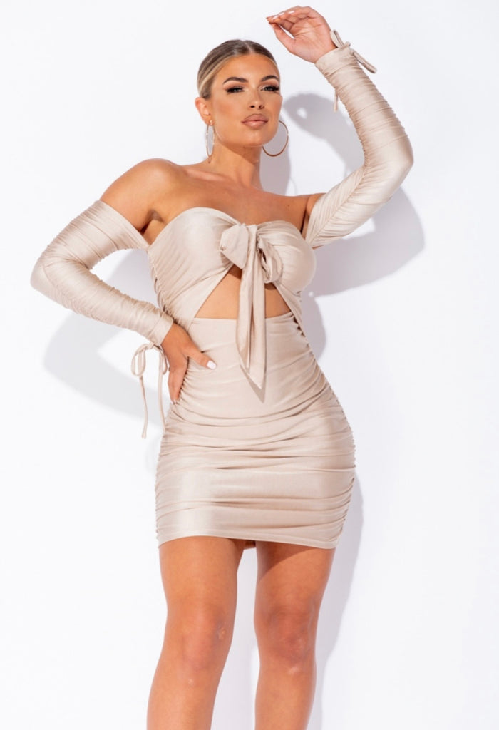 Scarlett Dress - Beige