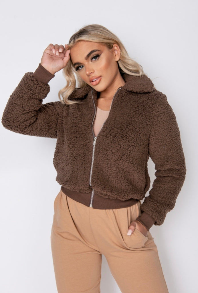Dolled Up Jacket - Chocolate