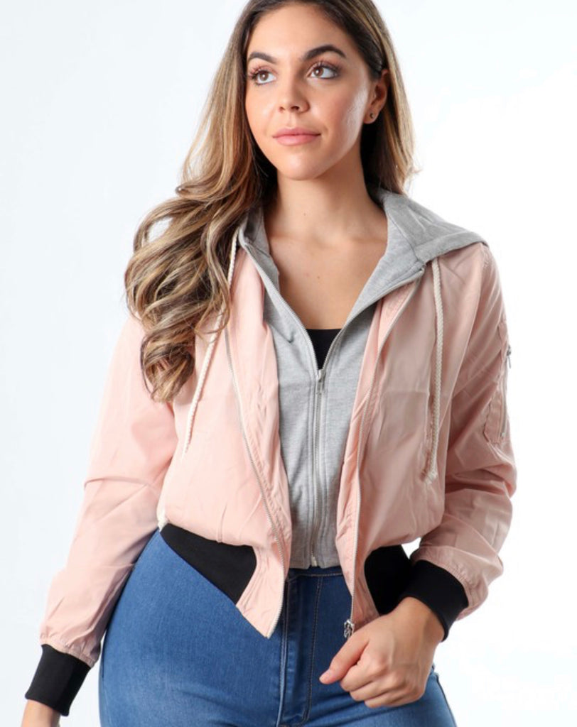 Heart Eyes Jacket - Pink