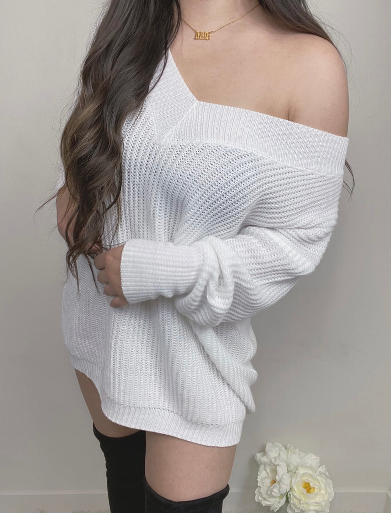 Let's Get Cozy Dress - Ivory