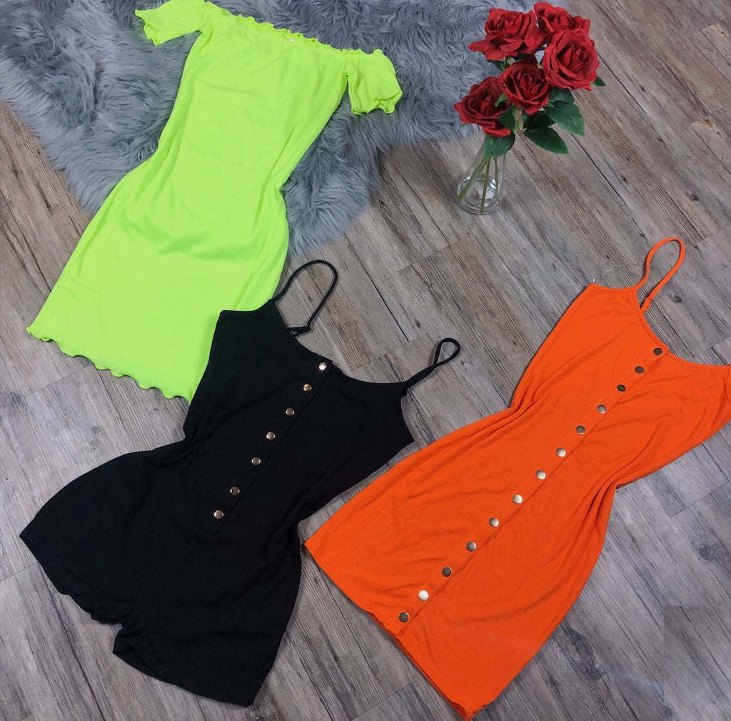 Dream On Dress - Neon Green