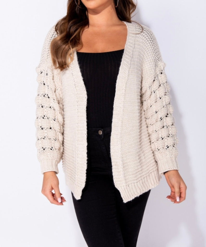 Cozy Days Cardigan - Stone