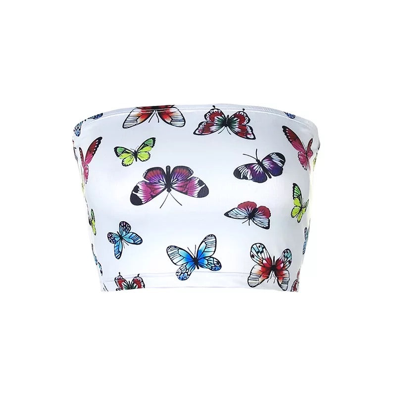 Social Butterfly Top - White