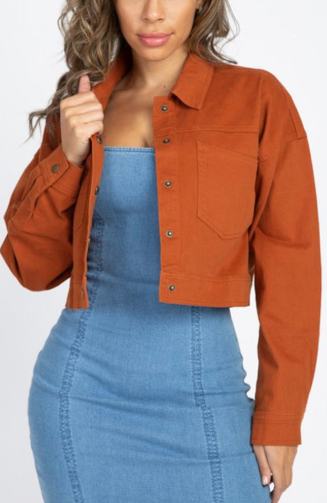 Fave Time Jacket - Rust
