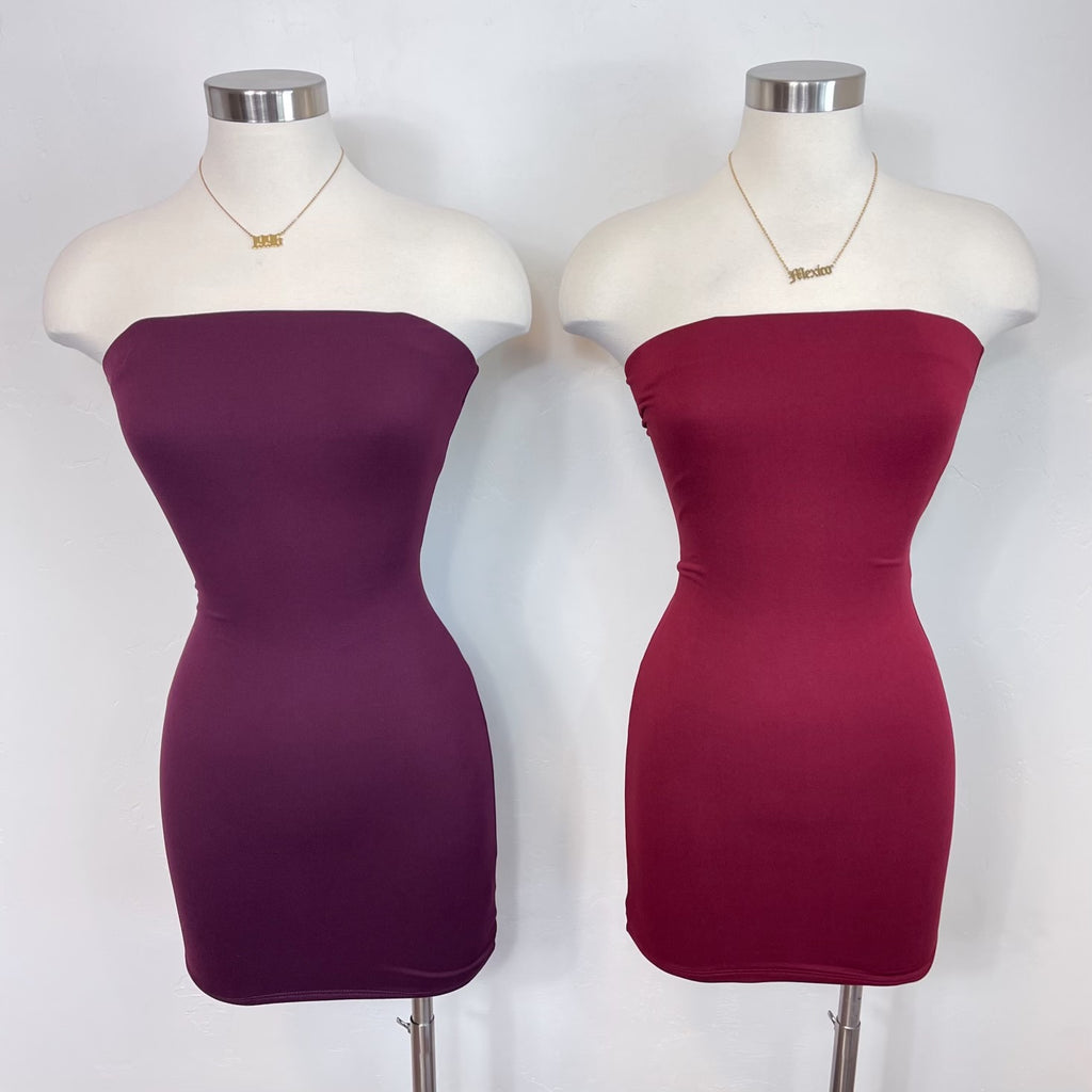 Meygan Dress - Burgundy