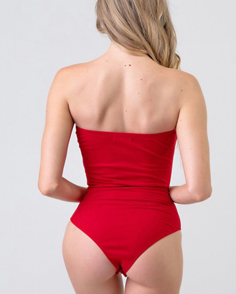 Got Too Close Bodysuit - Red