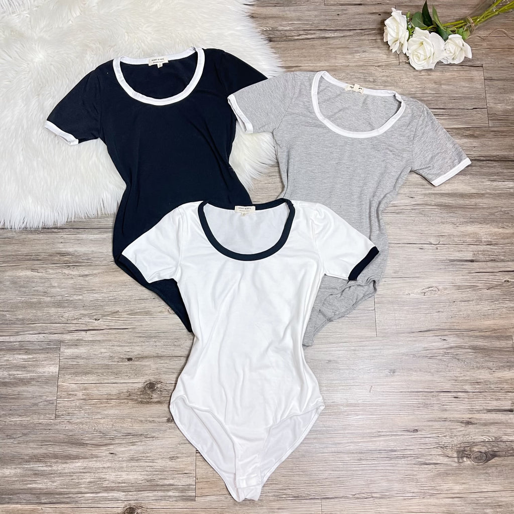 Evelia Bodysuit- Gray