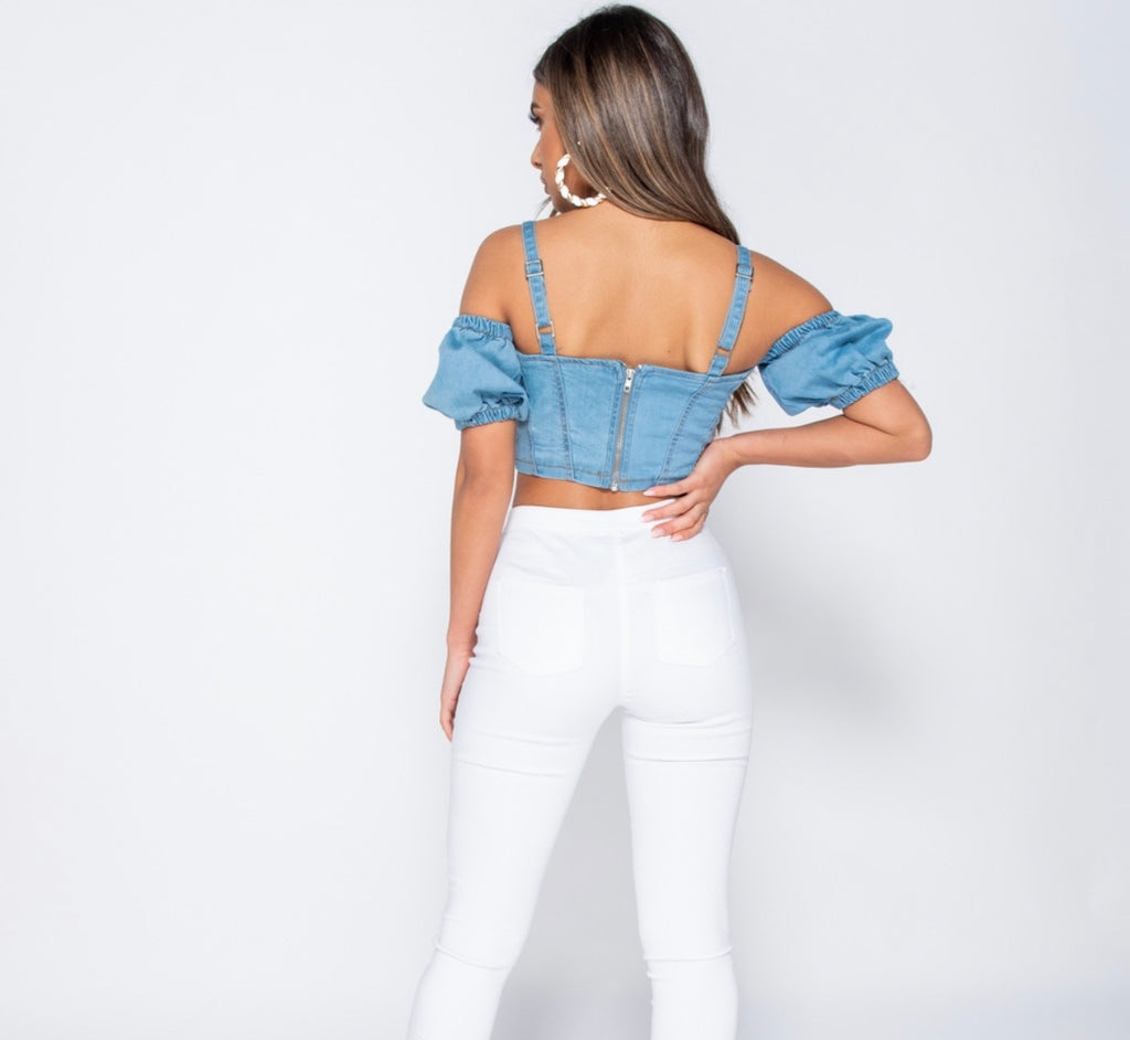 All Or Nothing Top - Denim