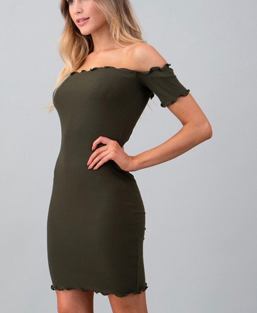 Dream On Dress - Olive