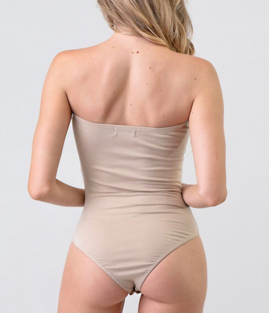 Got Too Close Bodysuit - Taupe
