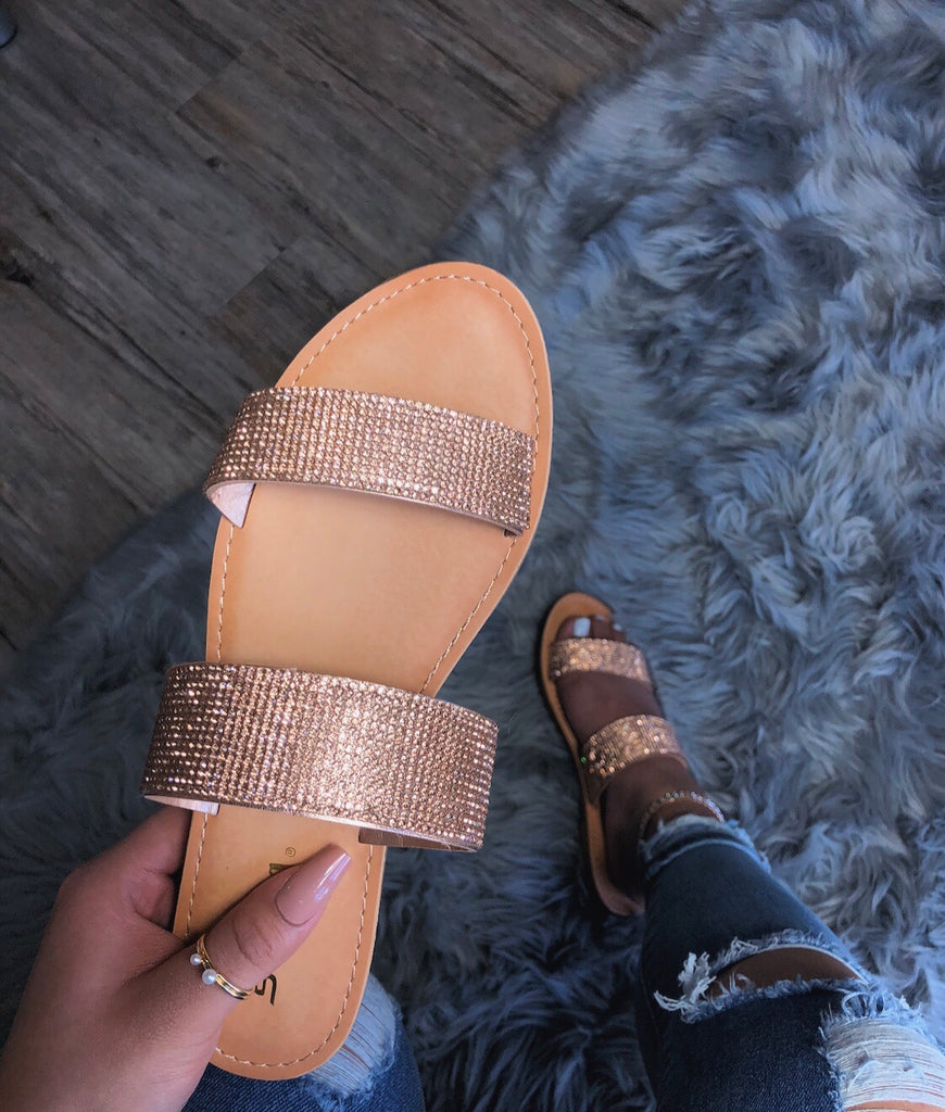 So Icy Sandals - Rose Gold
