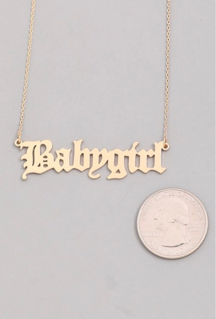 Babygirl Necklace - Gold