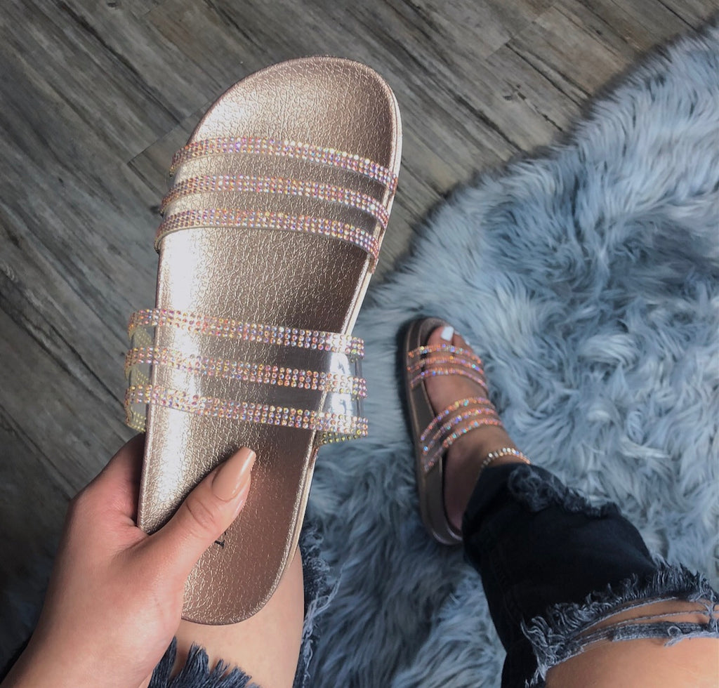 Bling It Slides - Rose Gold