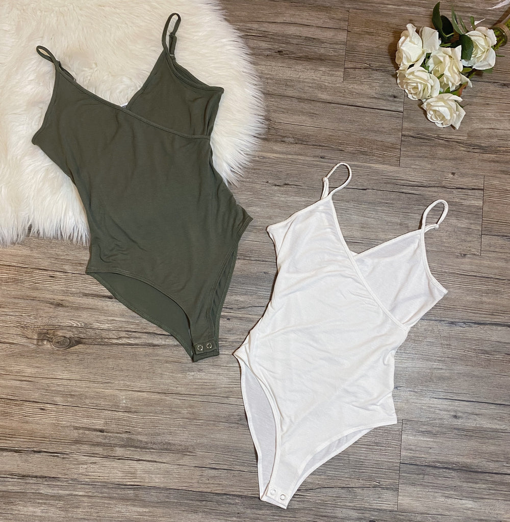 Not So Basic Bodysuit - Olive