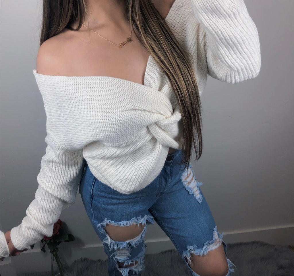 Falls Favorite Sweater - Ivory