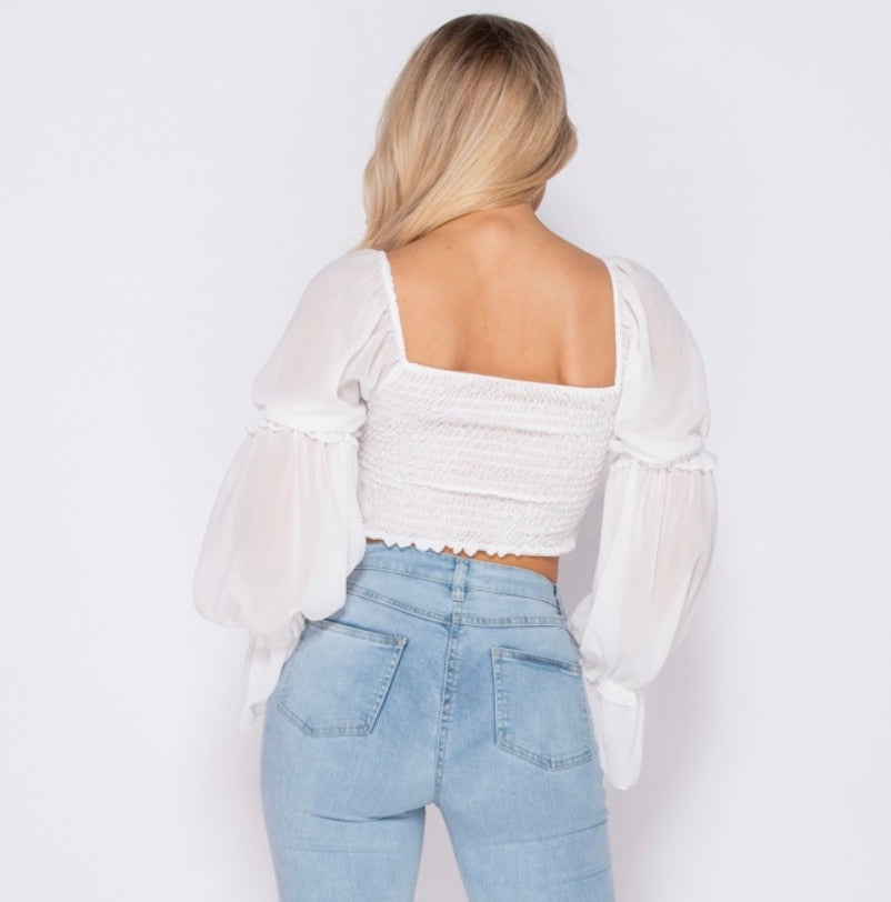 Cinderella Top - White