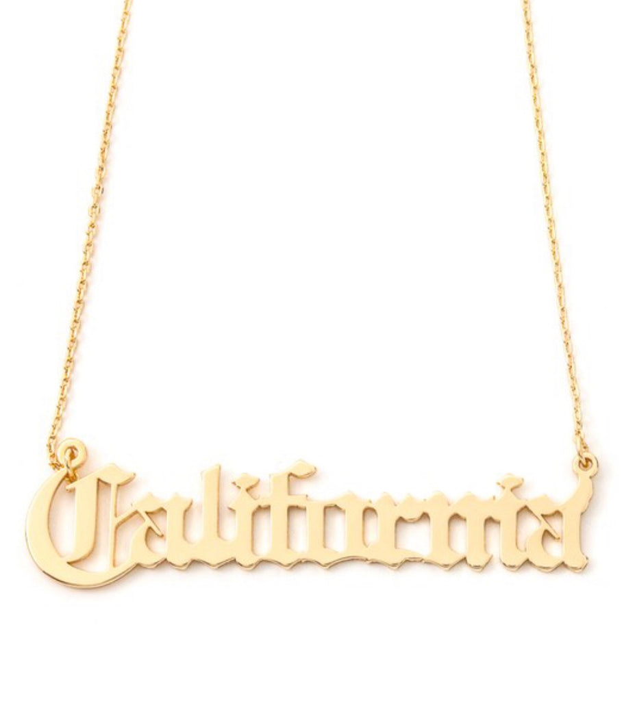 California Necklace - Gold