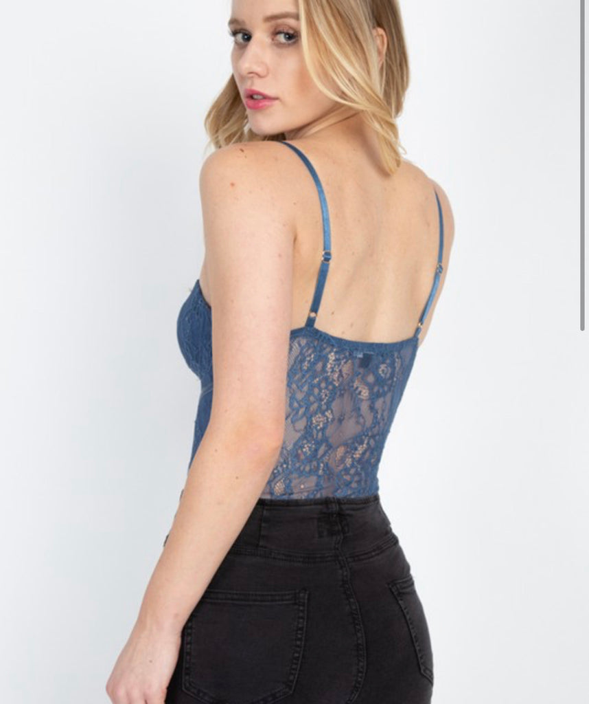 Kendall Bodysuit - Denim Blue