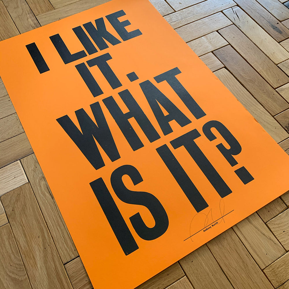I Like It. What Is It? print