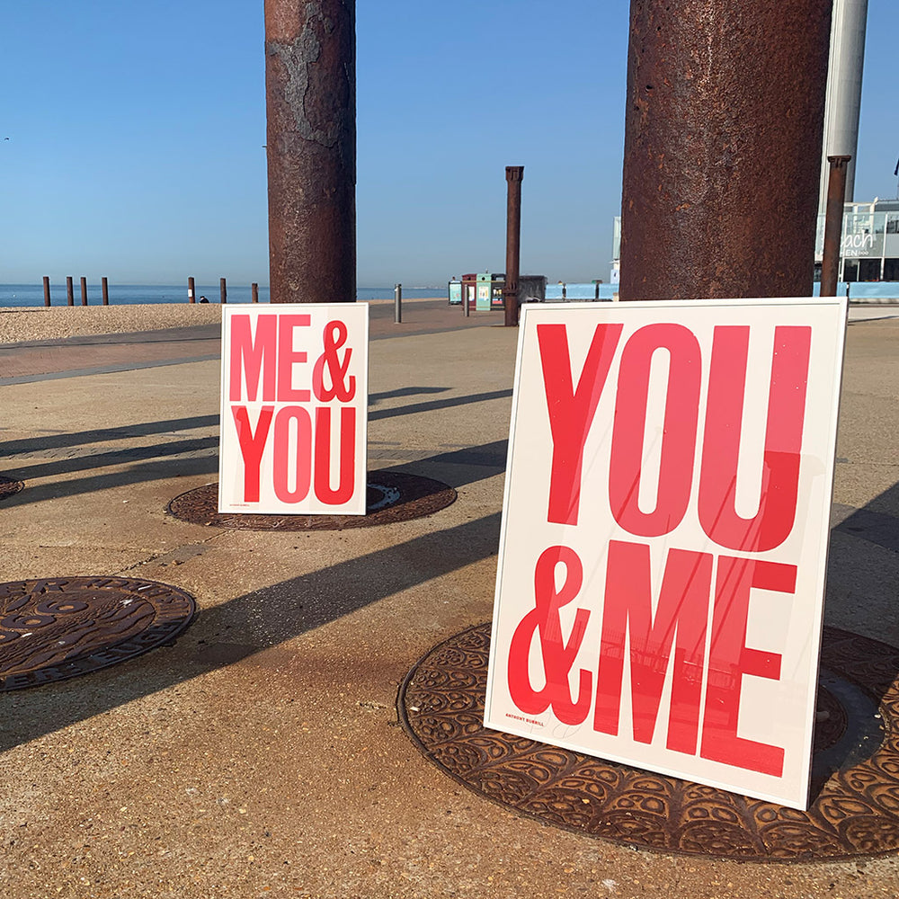 Me & You print - Red
