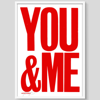 You & Me print - Red